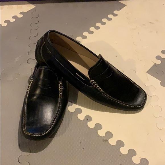 black Ecco Penny Loafers